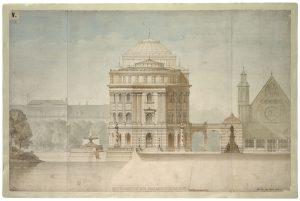 Ontwerp Paleis Staten-Generaal op het Binnenhof, Ludwig Lange, 1865. Collectie Nationaal Archief