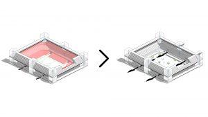 Concept van het transformeerbare stadion