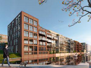 En Bloc in Houthavens telt 80 woningen en is bijna voltooid. In co creatie met de kopers zijn de  plattegronden en de gemeenschappelijke ruimtes vormgegeven