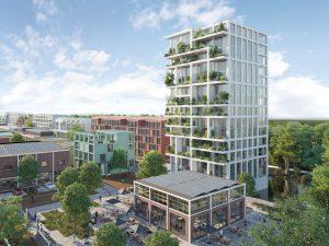 Het Holenkwartier op een voormalig Philipsterrein in Hoorn met o.a. werk en woonruimten in de oude fabriekshal en een nieuwe Superlofts Toren, met een grote diversiteit aan woonvormen en indelingen op basis van het CD20 prefab betonskelet