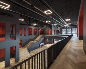 Kunstenpand, Hart van Zuid, nieuw Theater, Cultuurcentrumen en Bibliotheek in Rotterdam Zuid. De Zwarte Hond architecten. © 2020