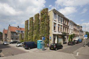 Standing garden in de Spoorhoek in Arnhem. Ontwerp: bureau Poelmans Reesink. Foto's: Koninklijke Ginkel Groep.