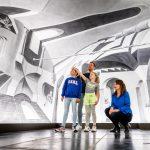 Escheriaanse 3D muurschildering