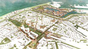 Toekomstbeeld van het nieuwe stadshart van Den Helder. Beeld: West8