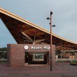 Houten dakconstructie Station Assen