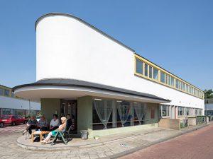 De modelwoning in de woonwijk De Kiefhoek van J.J.P. Oud in Rotterdam. Foto: Ossip van Duivenbode