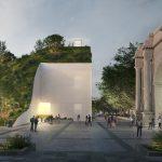 MVRDV ontwerpt groene heuvel op basis van steigerconstructie