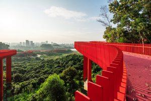 Uitzicht op stad vanaf het Rode Pad