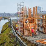 Innovatieve constructie circulaire uitkijktoren Nieuw Delft