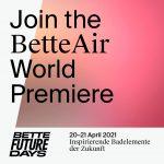 Interactieve noviteitenshow BetteFuture Days met première op 20/21 april