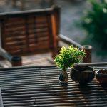 Basiselementen voor een zithoek in de tuin