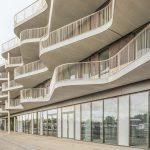 Karakteristieke golvende balkons voor Westerschans 1B