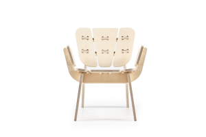 Fabrikoos, SOOF, 'detachable chair', berkenhout, collectie Museum de Fundatie Zwolle en Heino/Wijhe