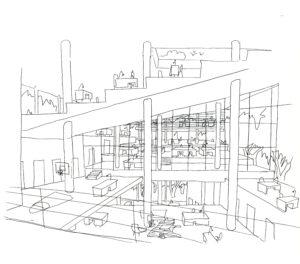 Vroegere schets Villa VPRO